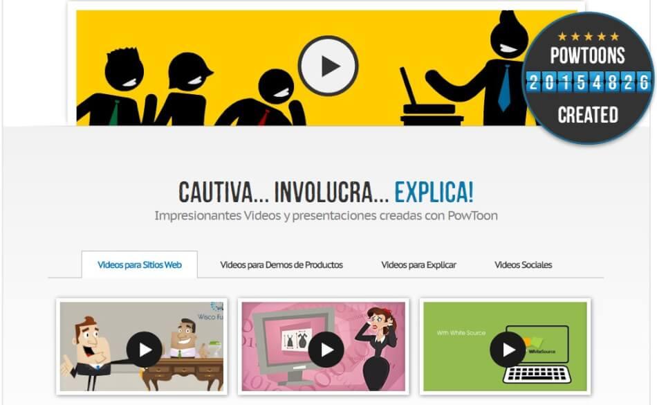 Impresionantes Videos y presentaciones creadas con PowToon
